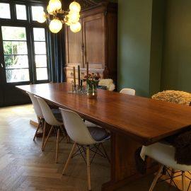 vintage tafel met nieuwelaklaag | Patine meubelrestauratie