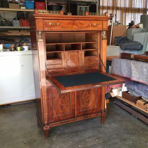 Mahonie secretaire|Patine meubelrestauratie
