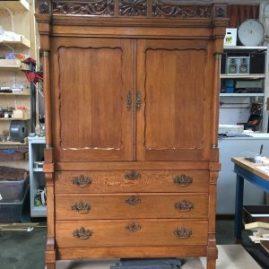 eiken kabinet na restauratie | Patine meubelrestauratie