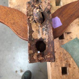 restauratie verbindeingen kapstok