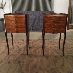 rozenhouten tafels na restauartei vooraanzicht  Patine meubelrestauratie Amsterdam